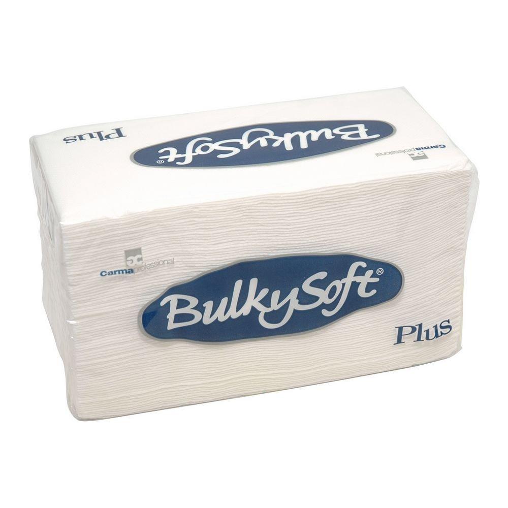Bulkysoft Luxe servet 2-laags wit 38x38cm 1/8 vouw 800 stuks