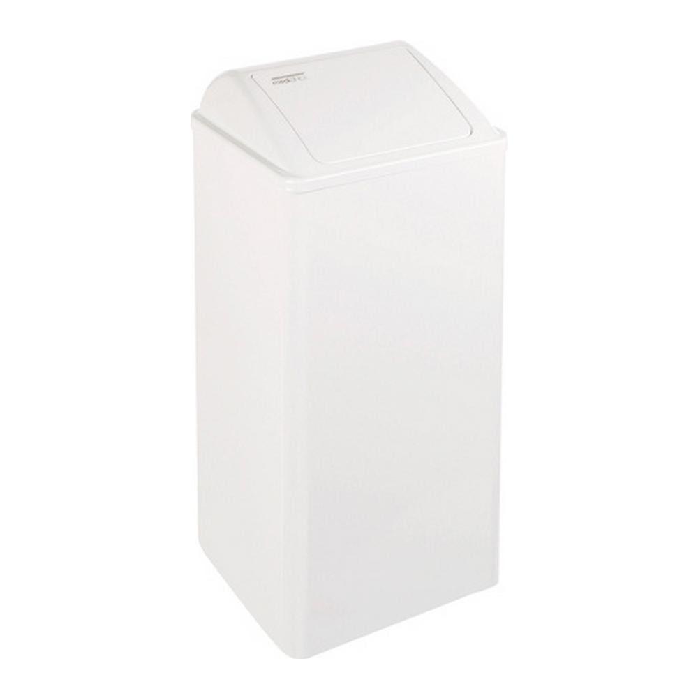 Mediclinics | Afvalbak | Gesloten | Wit | Inhoud: 80 liter