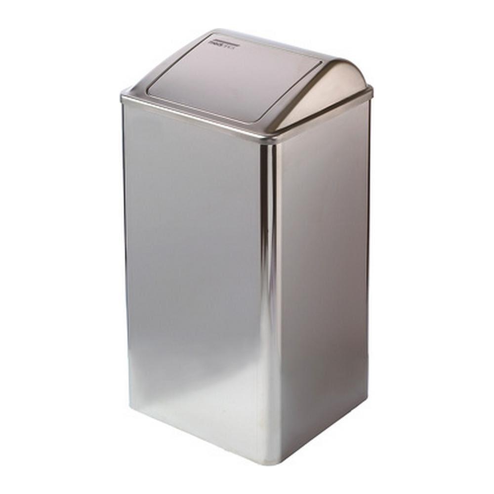 Mediclinics | Afvalbak | Gesloten | RVS hoogglans | Inhoud: 65 liter