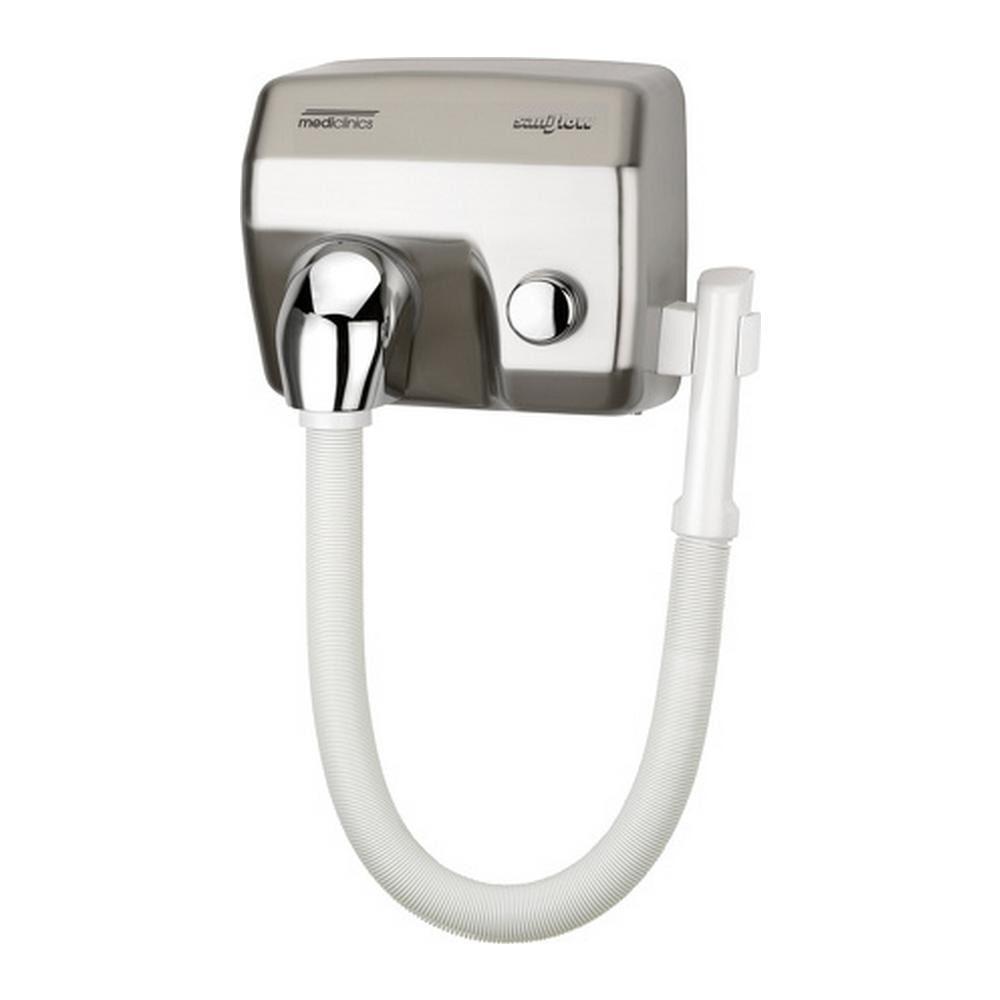 Mediclinics | Haardroger met slang | RVS look