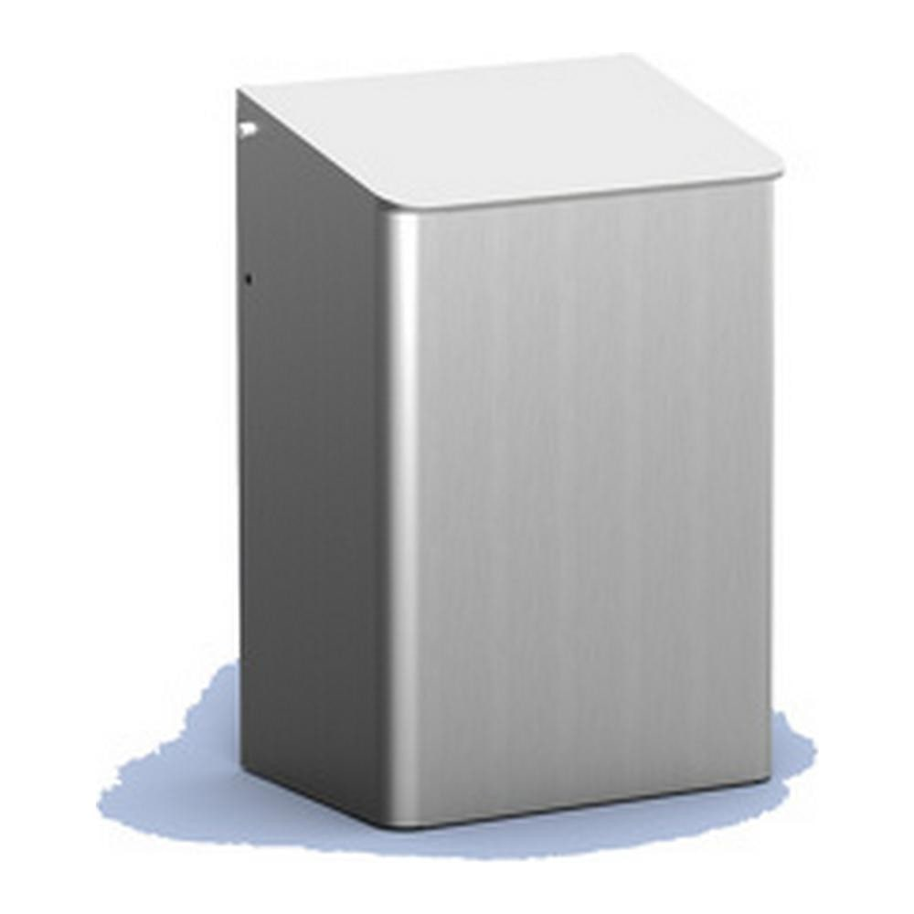 MediQoline afvalbakken gesloten 6 liter aluminium