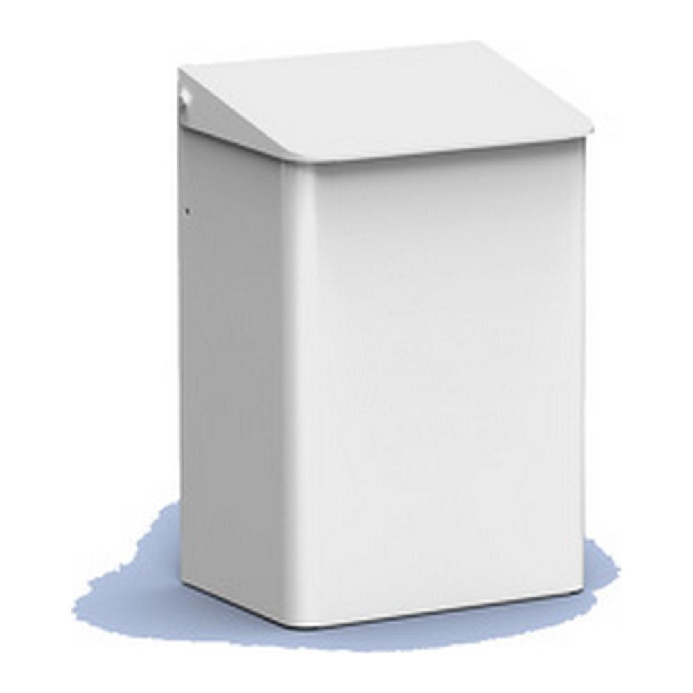 MediQoline afvalbakken gesloten 6 liter wit