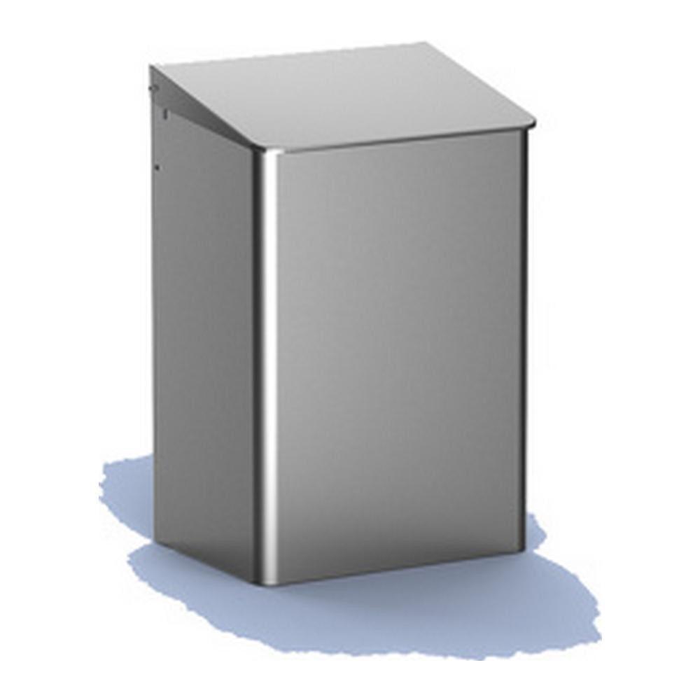 Mediqoline afvalbak RVS gesloten 15 liter