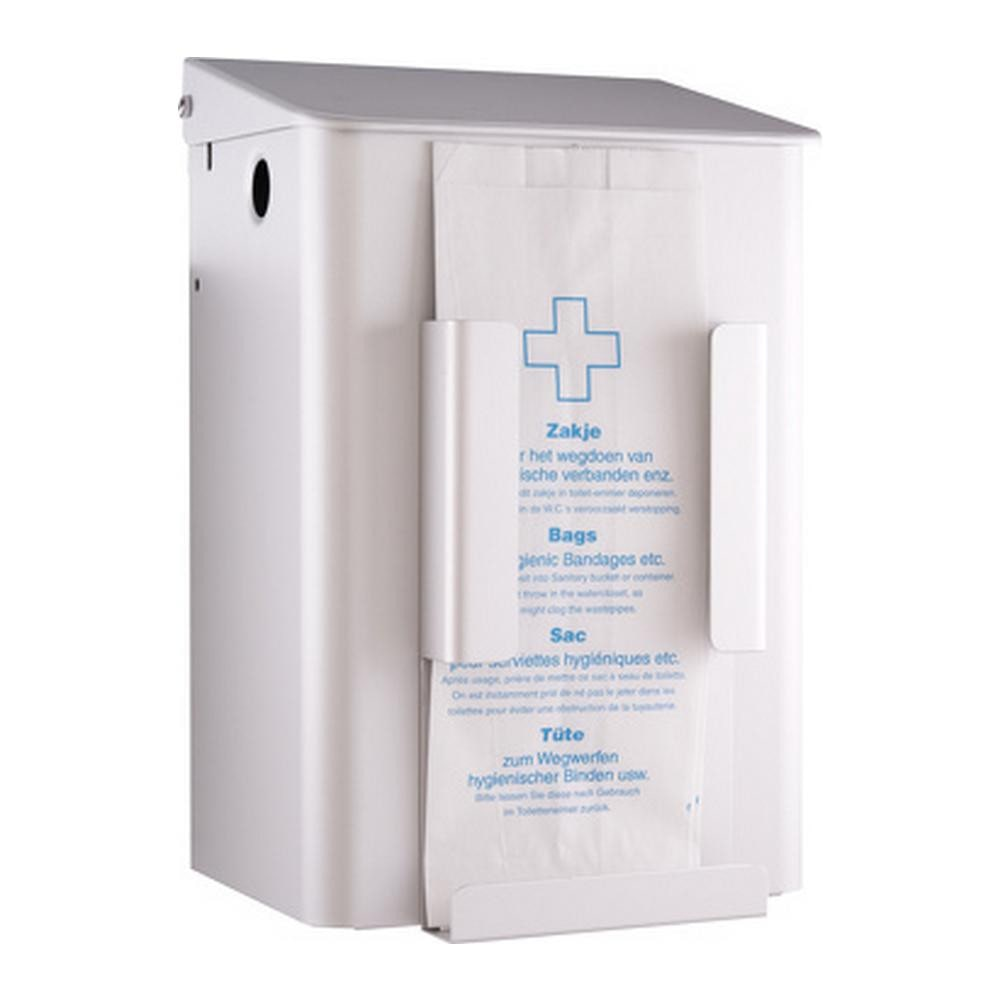 MediQoline Hygiënebak 6 liter wit + zakjeshouder papier