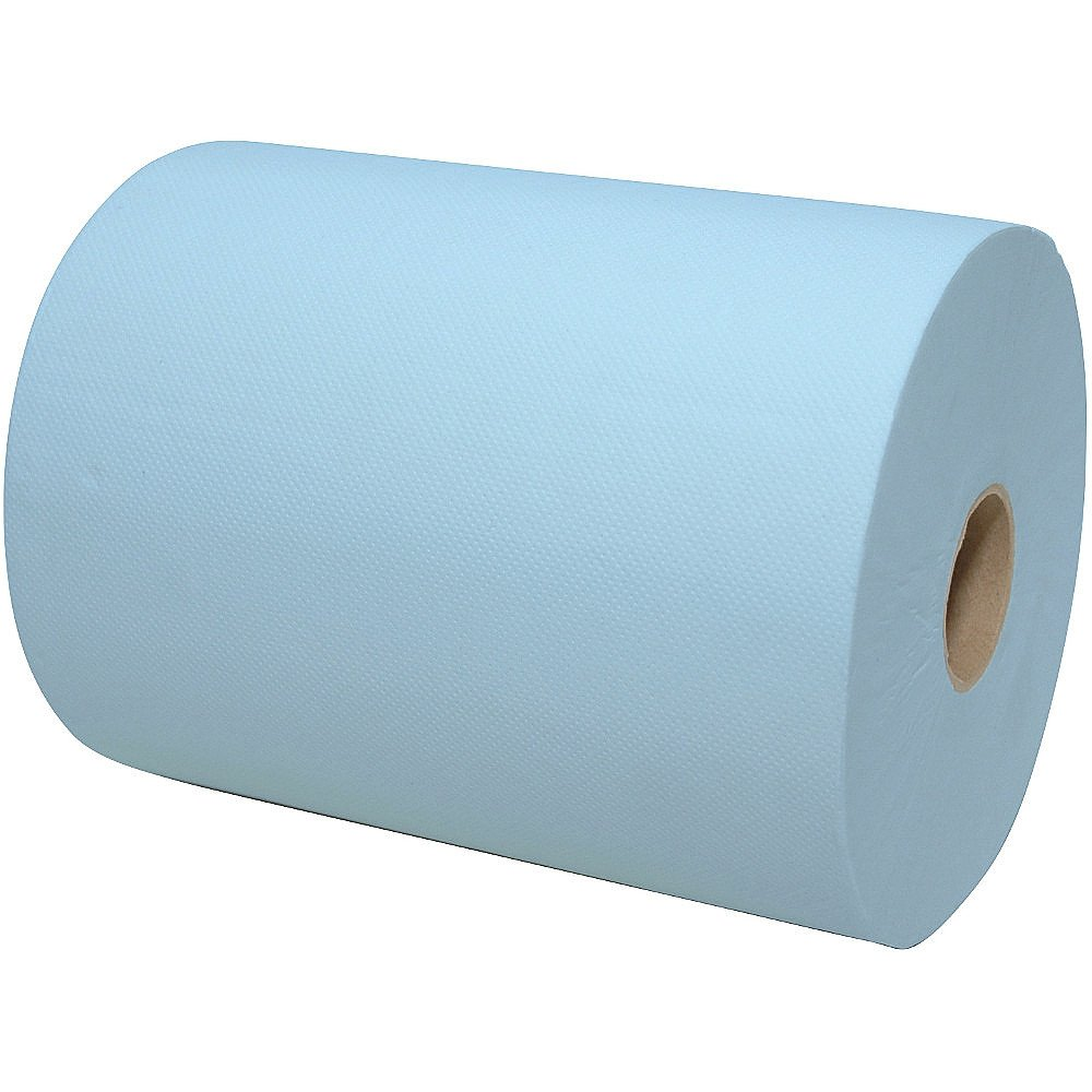 Handdoekrol mini matic blauw XL 2-lgs cellulose 6 rollen