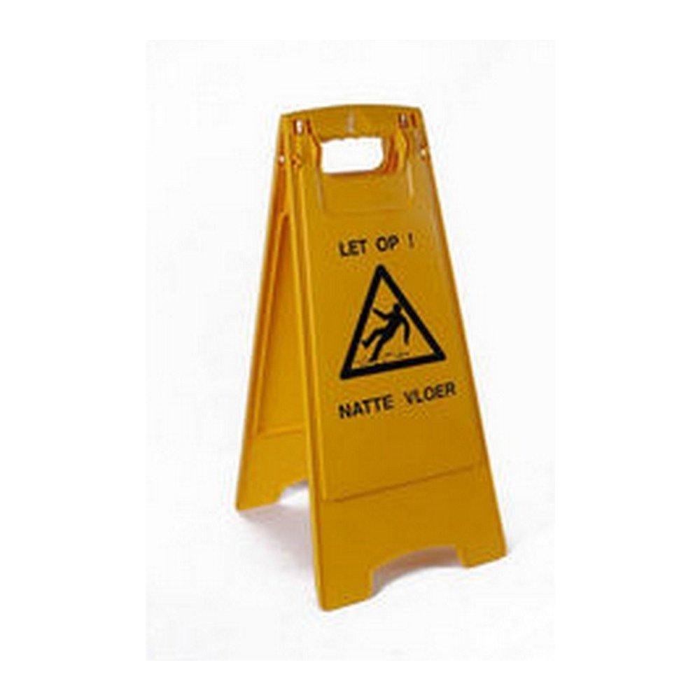 waarschuwingsbord let op! Natte vloer