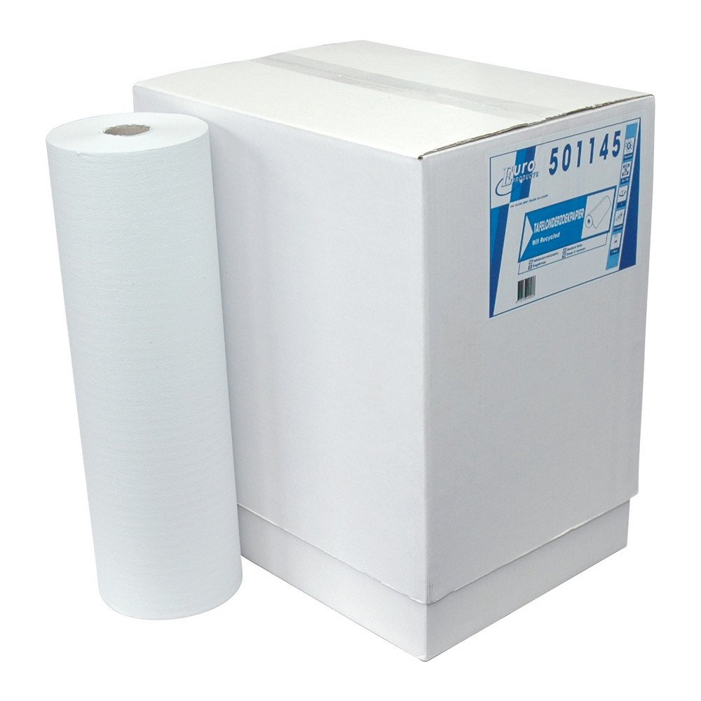 Onderzoekstafelpapier wit 1-lgs 5x150mtr 46cm geperf
