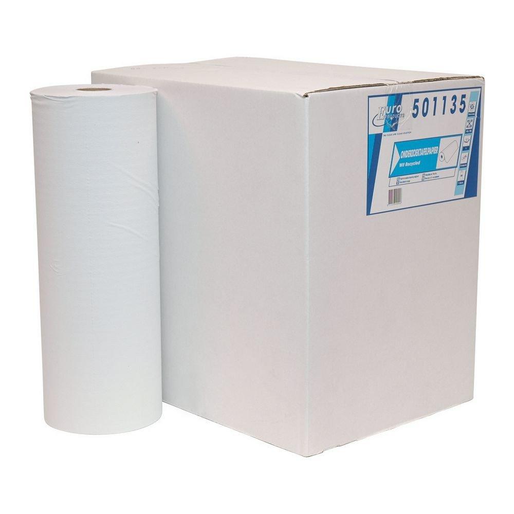 Euro Products | Onderzoekstafelpapier | Wit 1-laags geperforeerd | 40 cm | 5 x 150 meter