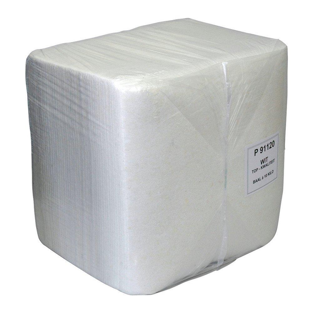 Poetsdoek wegwerp wit A-kwaliteit baal 10kg