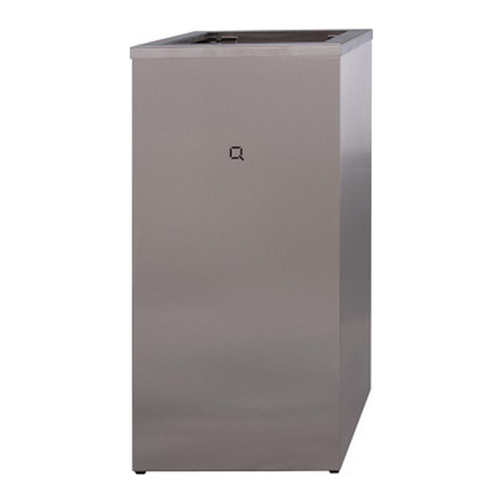Qbicline afvalbak RVS open 30 liter
