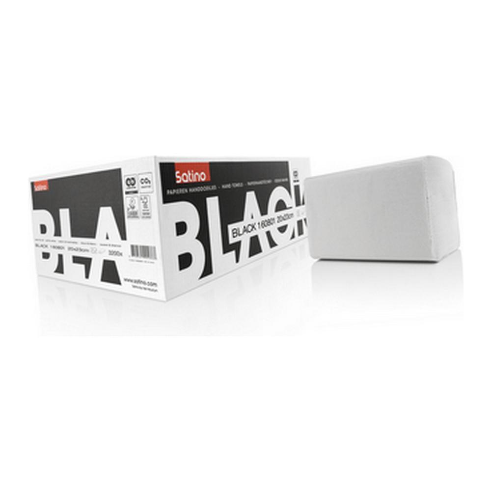 Satino Black 274560 Z-vouw handdoekjes 2-laags 20 x 23 cm 3200 stuks