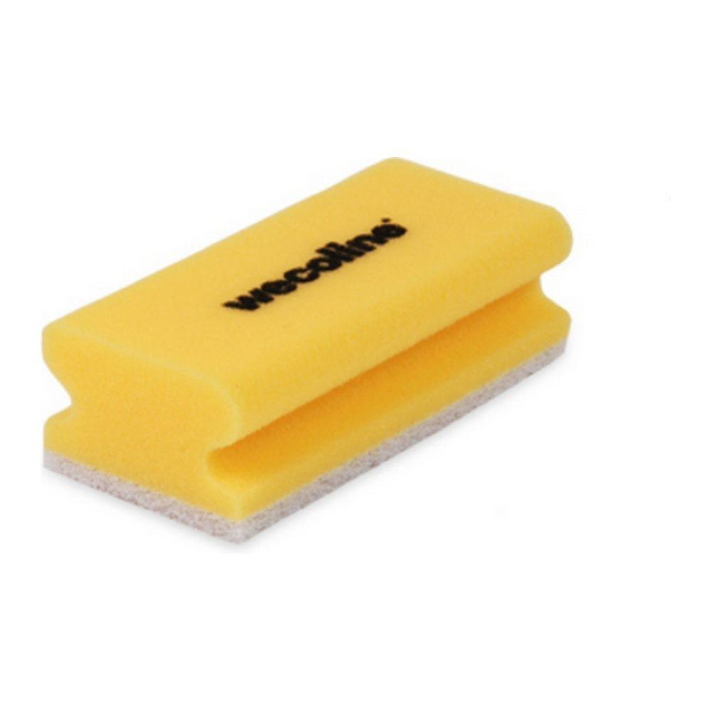 Weco schuurspons met grip geel-wit 10 stuks