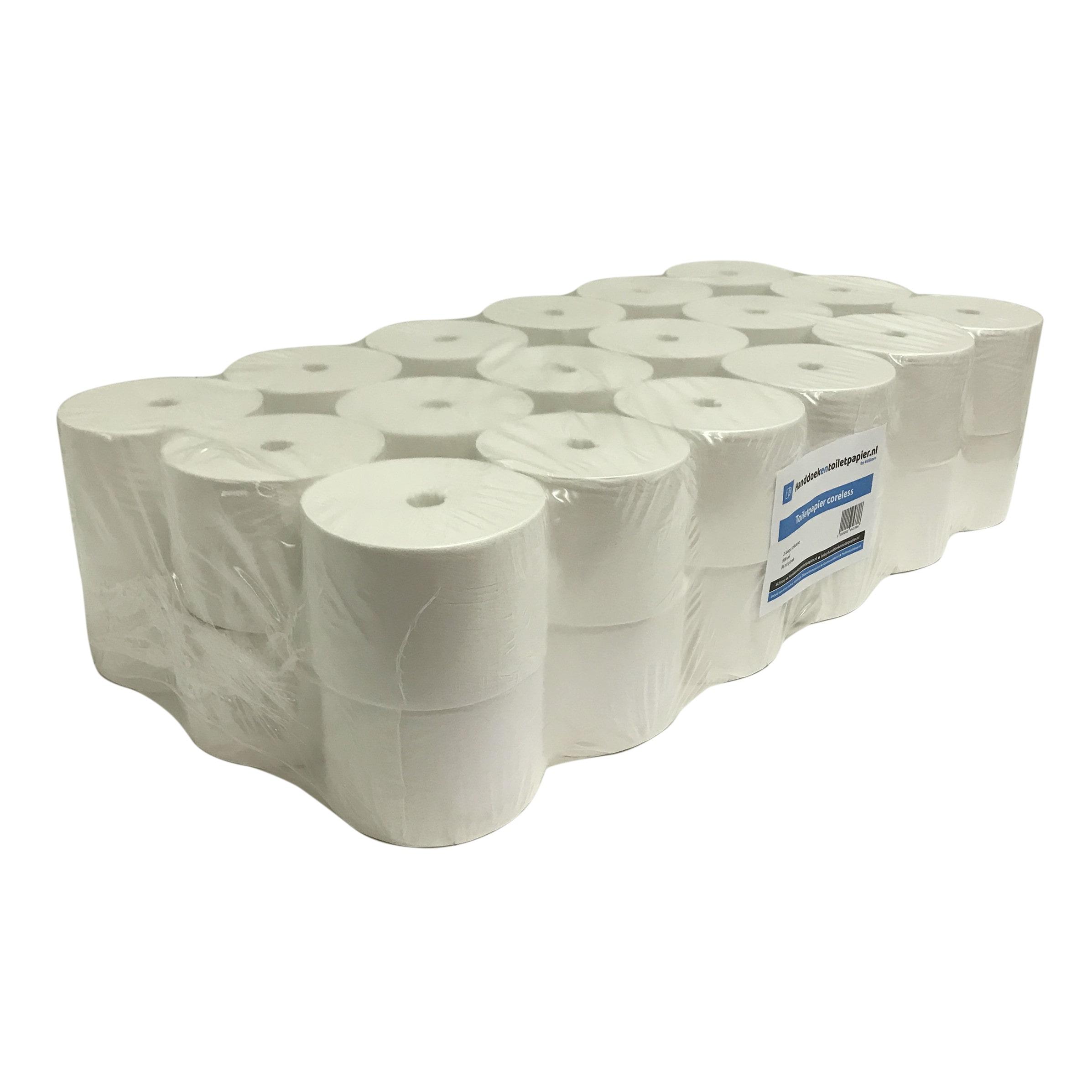 4UStore Coreless Toiletpapier 2-laags Cellulose 36 rollen
