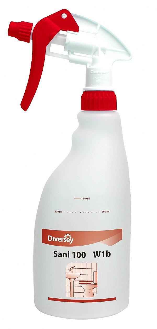 Taski sani 100 lege sprayflacon rood 5 x 0,5 liter