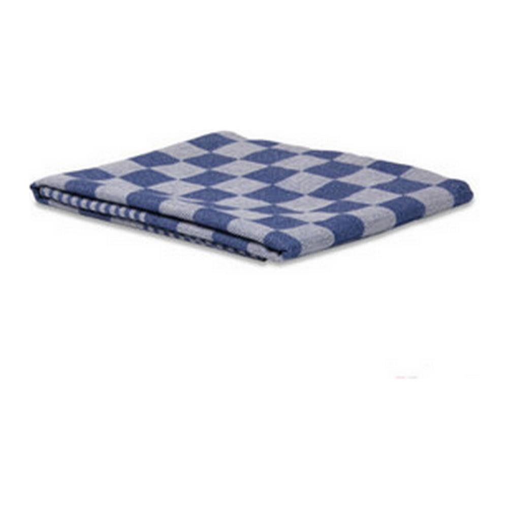 Theedoek geblokt blauw 12 st. 70 x 70 cm