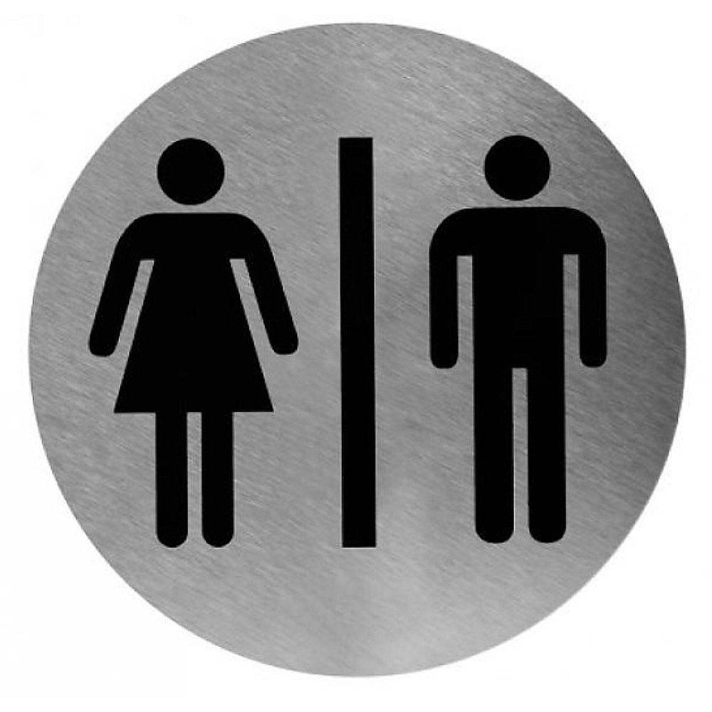 Toiletbordje man/vrouw RVS