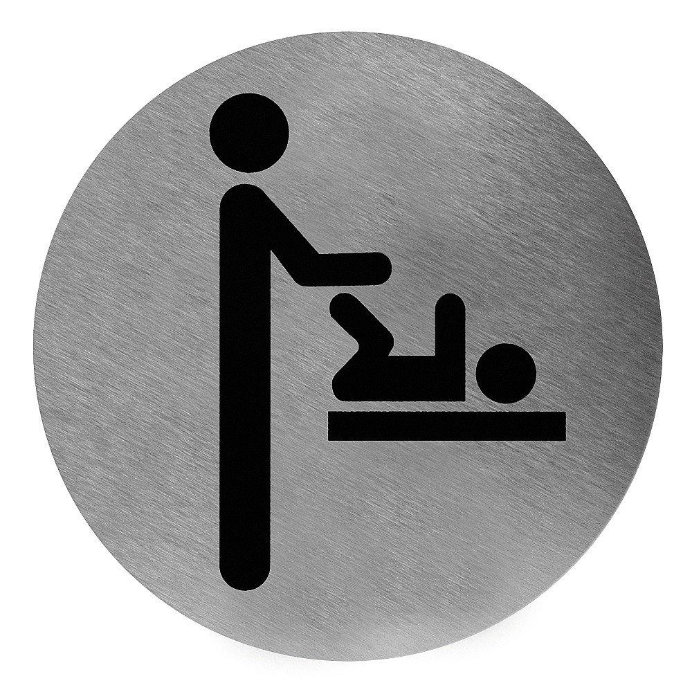 Toiletbordje luierverschoning RVS