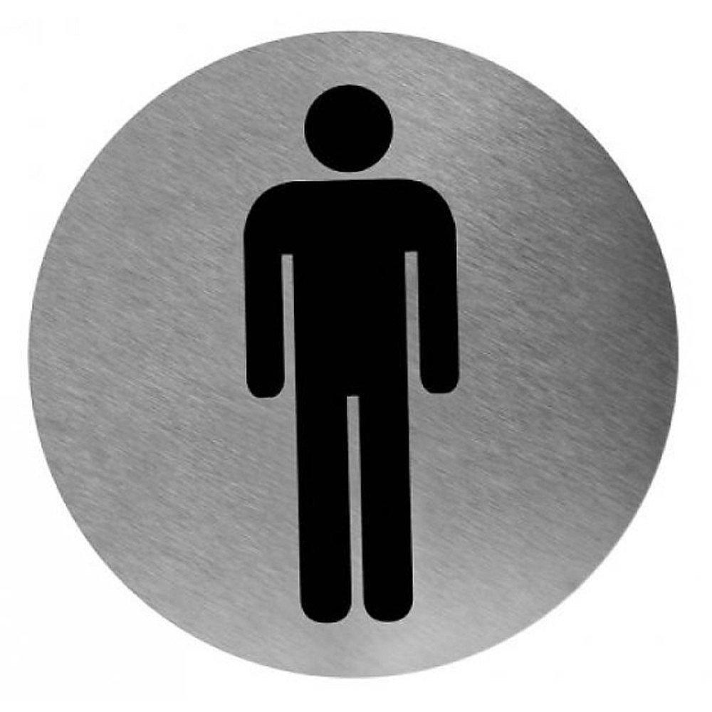 Toiletbordje man RVS