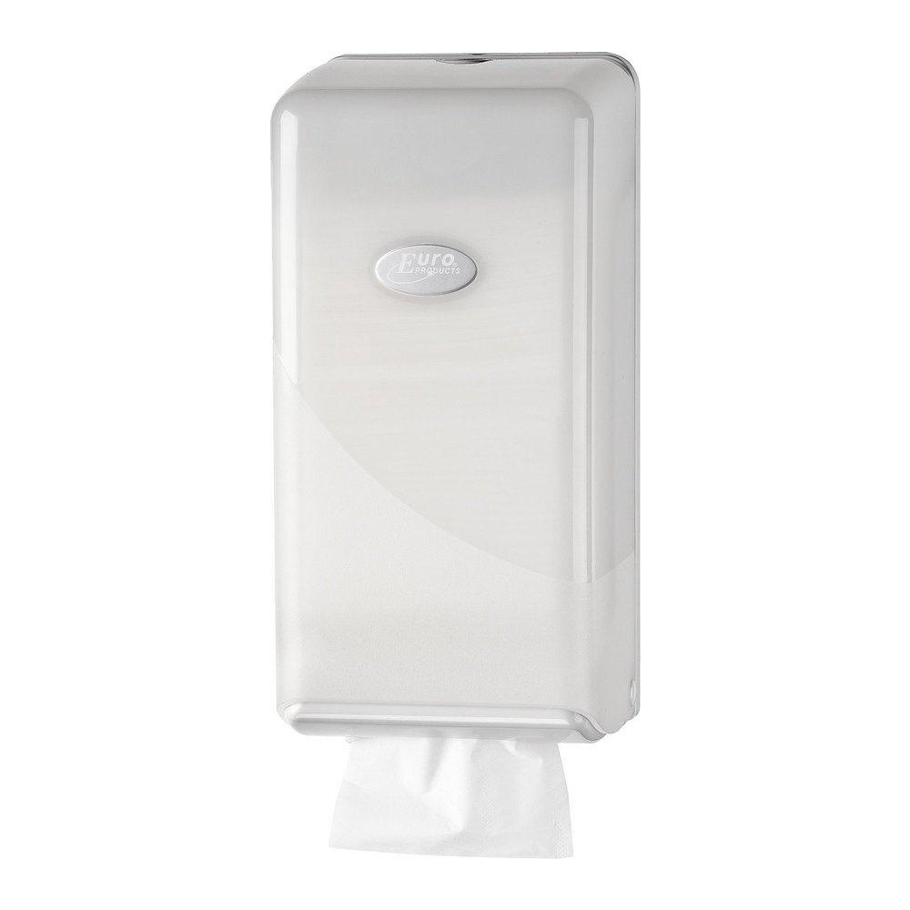 Euro Products | Toiletpapierdispenser Bulkpack | Kunststof | Wit