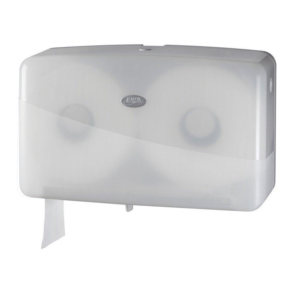 Euro Products | Toiletpapierdispenser | 2-rol | Mini Jumborol | Wit