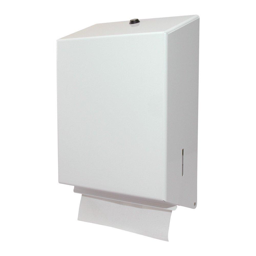 Euro Products | Z-vouw handdoekdispenser | Gemoffeld staal | Wit