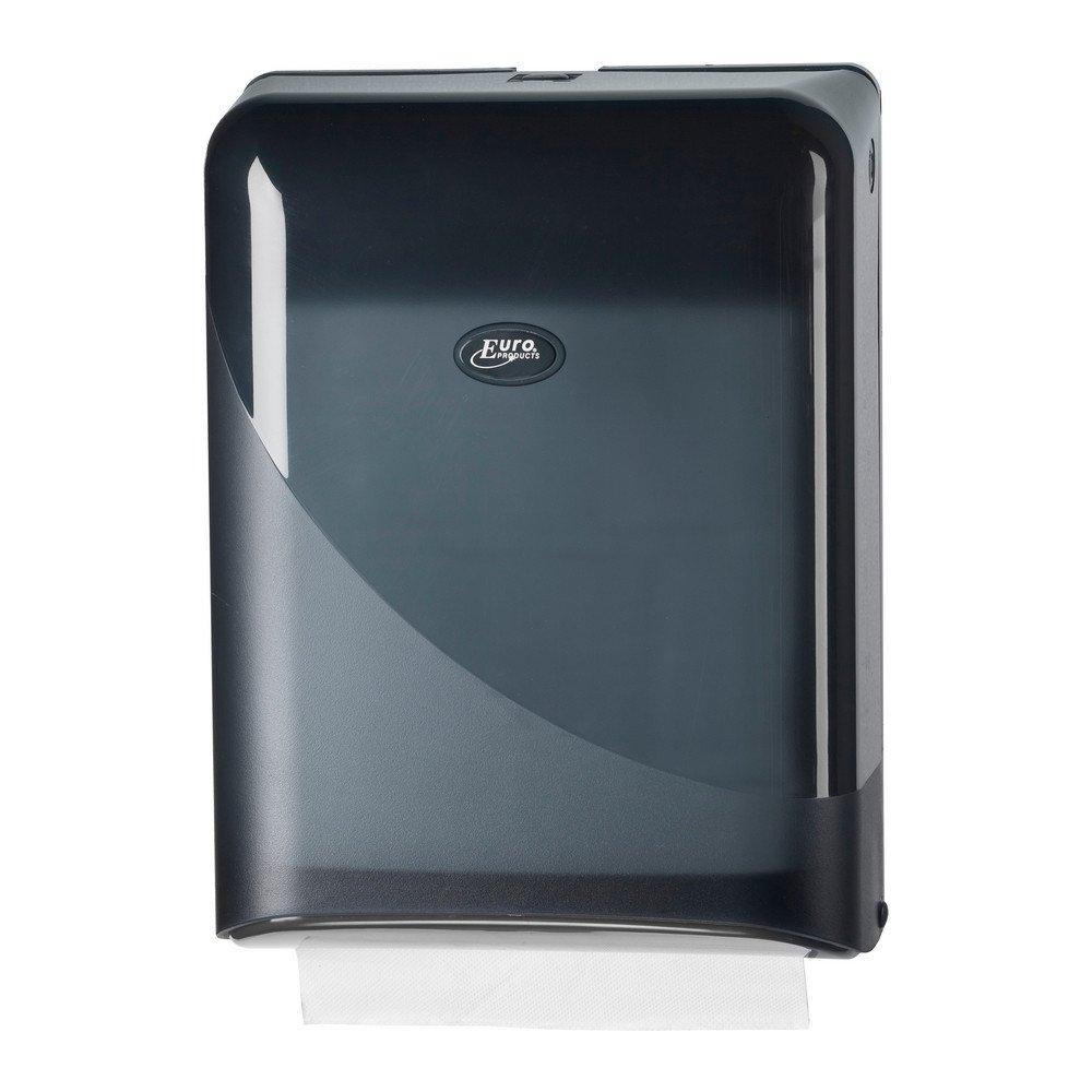 Euro Products | Pearl Vouwhanddoekdispenser | Z-vouw & interfold | Zwart