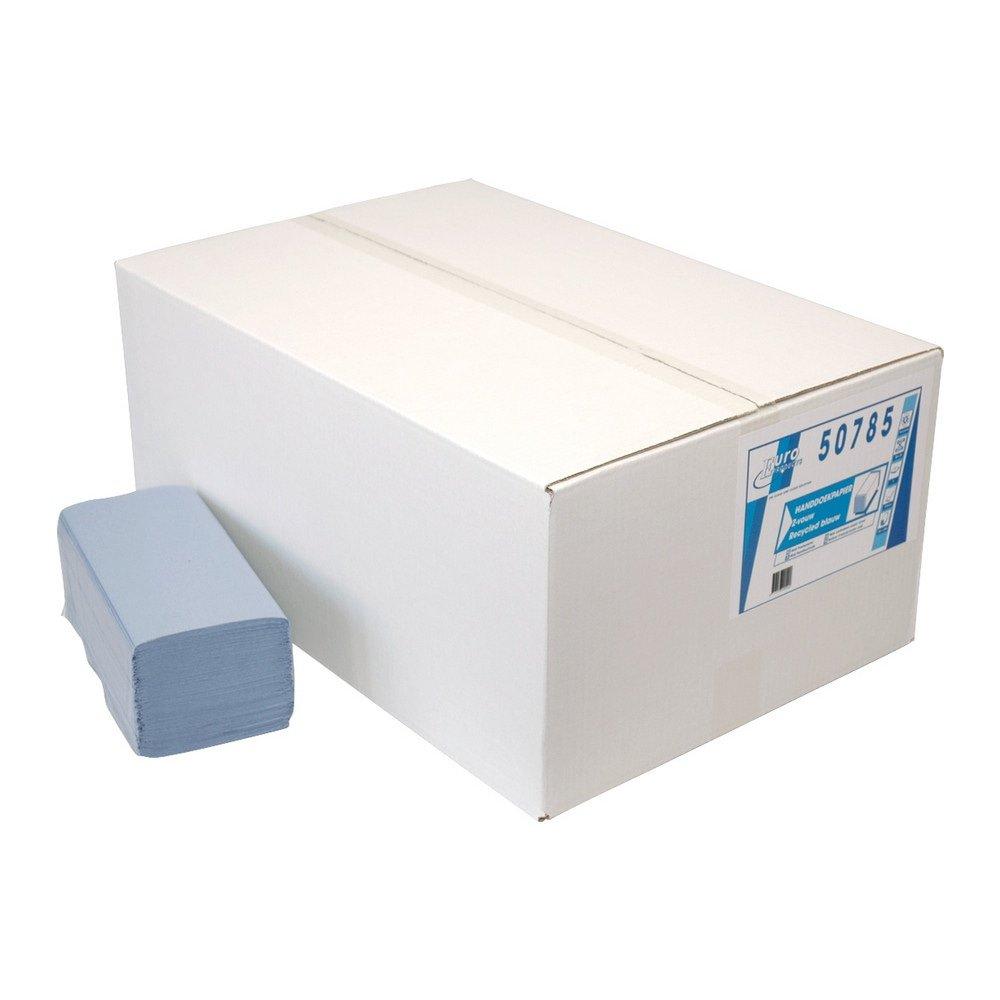 Euro Products | Z- vouwhanddoekjes | 1-laags blauw | 23 x 25 cm | 5000 stuks