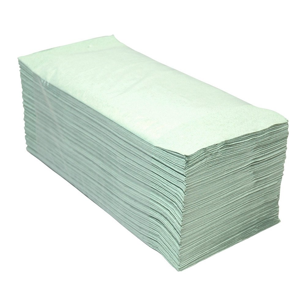 Euro Products | Z- vouwhanddoekjes | 1-laags groen | 23 x 25 cm | 5000 stuks