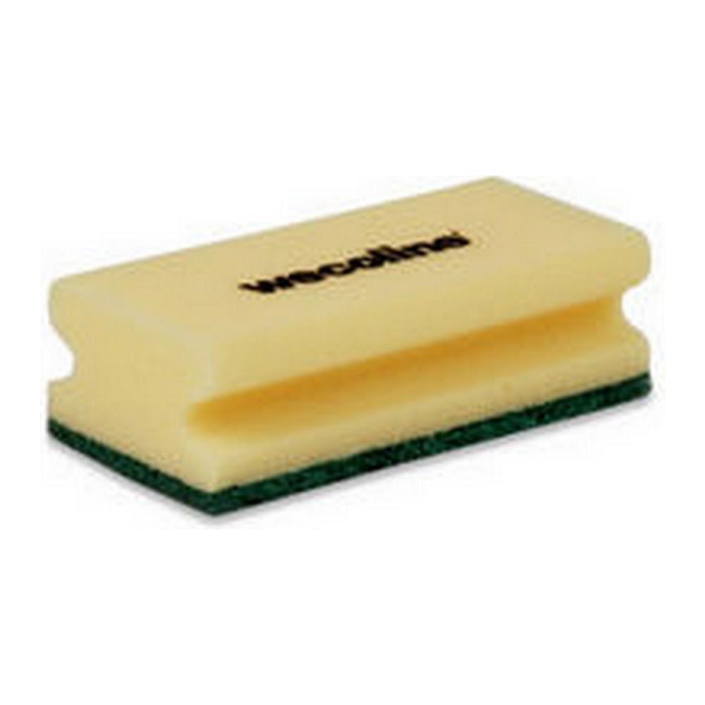 Weco schuurspons geel-groen 10 stuks