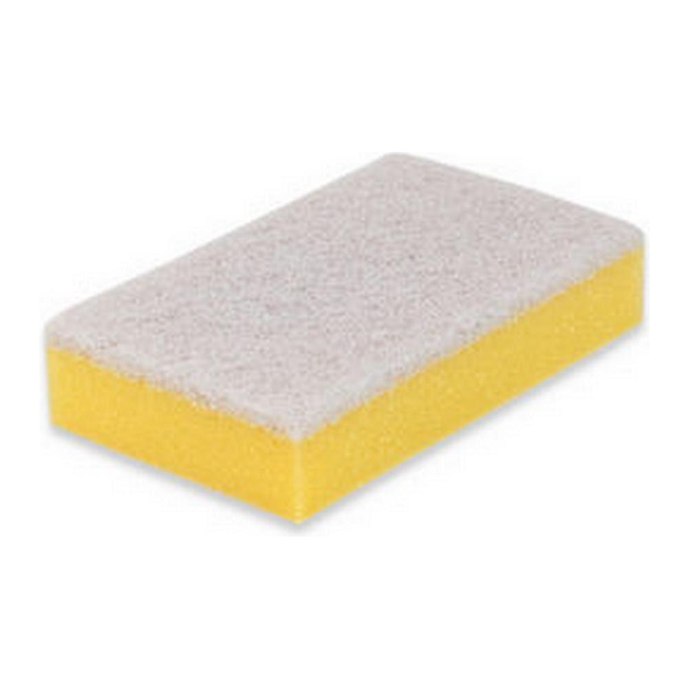 Weco schuurspons geel-wit 10 stuks