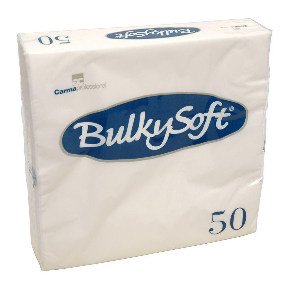Bulkysoft Witte servetten 40x40cm kwart vouw 2-laags 1600 stuks