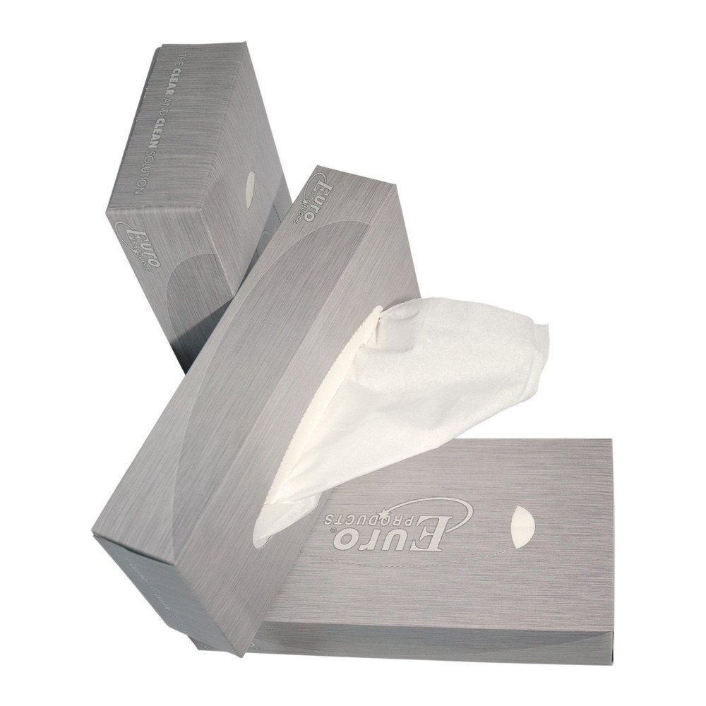 Euro Products | Tissues 21 x 21 in dispenserdoos | 40 x 100 stuks
