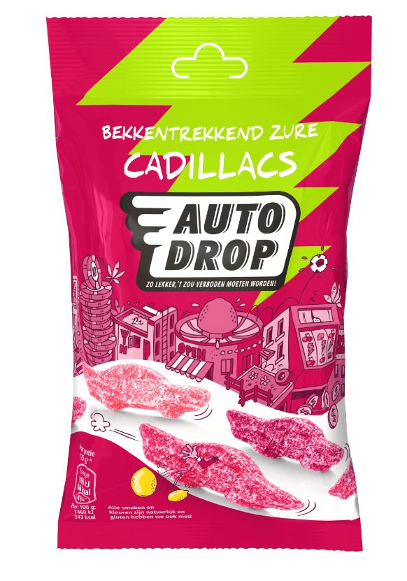 Autodrop | Zure cadillacs | 16 x 85 gram