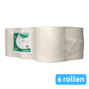 Euro Products | Midi rol 1 laags ecologisch | Natuurwit | 6 x 300 meter
