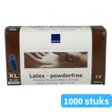 Handschoen Latex wit ongepoederd maat xl 10 x 100 stuks