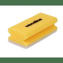 Wecoline | Schuurspons met grip | Geel-wit | 10 stuks