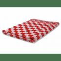 Wecoline | Keukenhanddoek | Rood-wit geblokt | 60 x 60 cm | 6 stuks