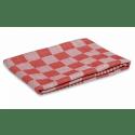 Wecoline | Theedoek | Rood-roze geblokt | 70 x 70 cm | | 12 stuks