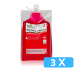 Ecodos sanitairreiniger zuur 3 x 1.8 liter
