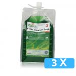 Ecodos vloerreiniger zeep 3 x 1.8 liter