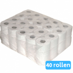 Toiletpapier recycled wit 2-laags 10 x 4 rollen