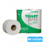 Toiletpapier 2-laags recycled wit 40 x 400 vel