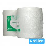 Euro Products | Toiletpapier 2-laags | Maxi jumborol | Wit | 6 x 380 meter