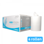 Euro Products | Midirol | 1-laags | Cellulose wit | 6 x 275 meter