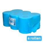 Euro Products | Midi rol 1-laags | Recycled tissue | Blauw | 6 x 300 meter