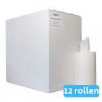 Mini rol Cellulose 1-laags 12 x 120 meter zonder koker