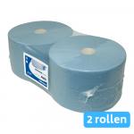 Industriepapier blauw verlijmd 2-laags 2 x 380 meter