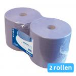Industriepapier blauw 2-lg 2x380 meter 26cm