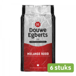 Douwe Egberts | Melange Rood | Standaard | Zak 6 x 1 kg