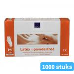 Handschoen Latex m gepoederd wit 10 x 100 stuks